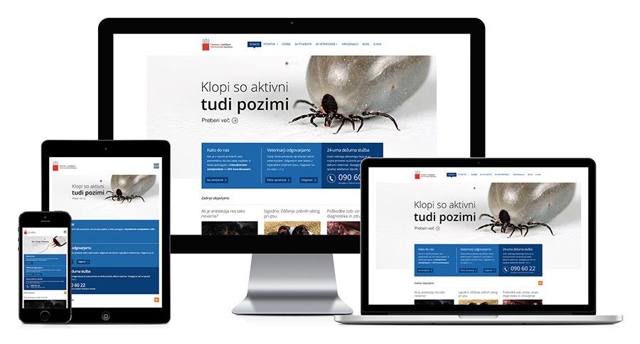 KKMŽ - Klinika za kirurgijo in male živali ljubljana - responsive design