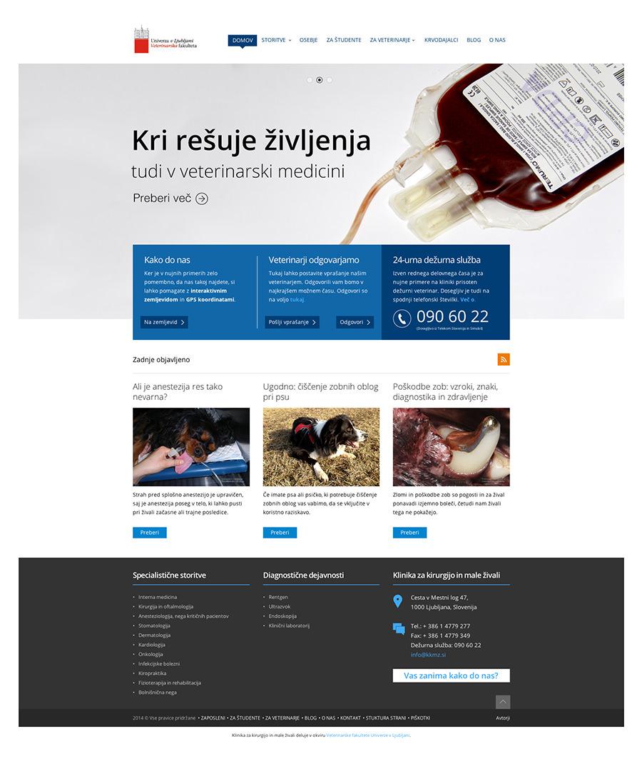 KKMŽ - Klinika za kirurgijo in male živali ljubljana - Landing page