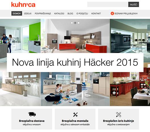 kuhnca.si - spletni katalog / fully responsive web design