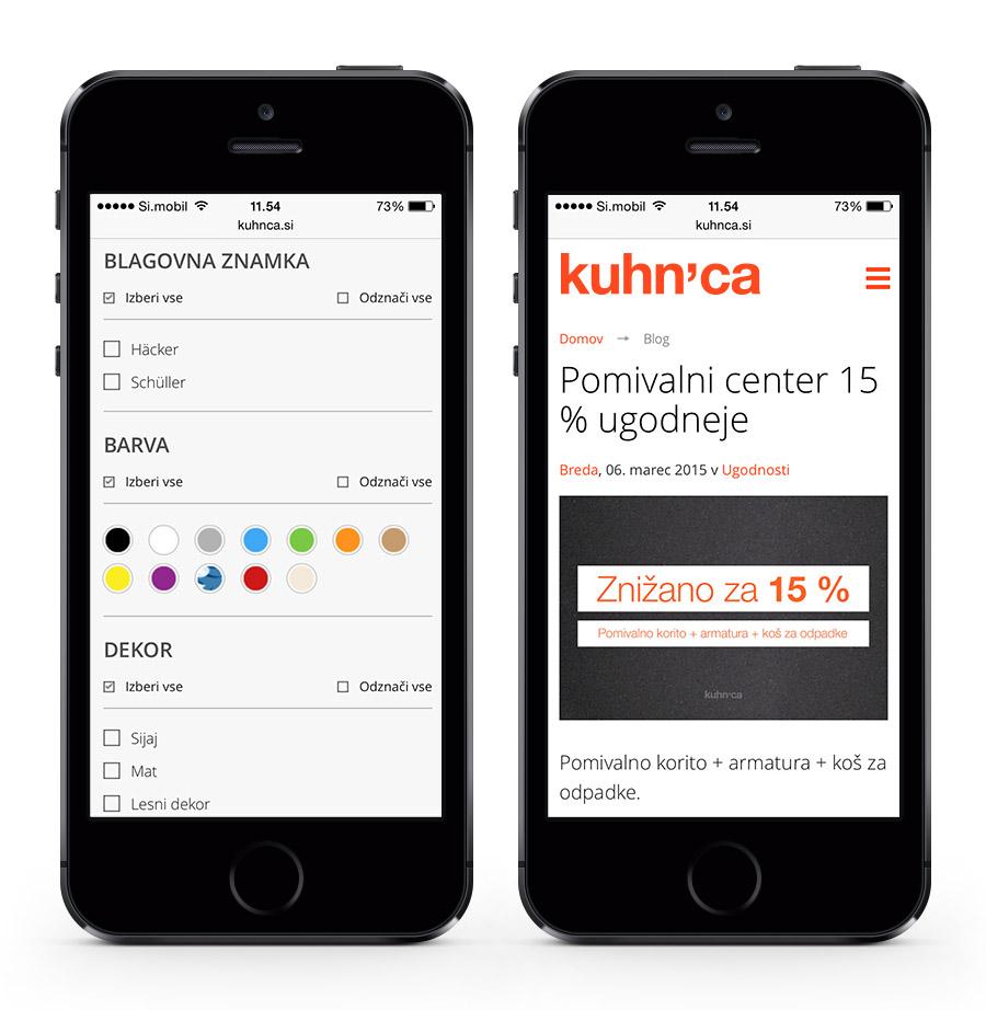 Kuhnca.si - responsive design