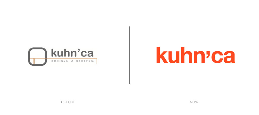 kuhnca logotype - before / now