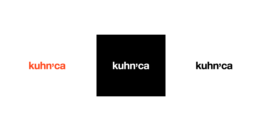 kuhnca logotype - color / negative