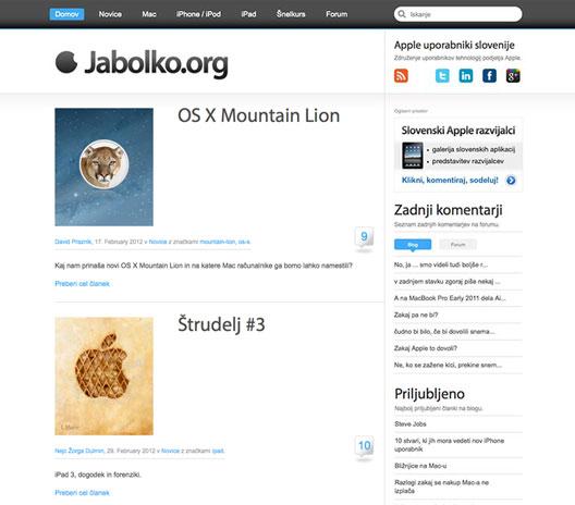 Jabolko.org - Apple uporabniki Slovenije