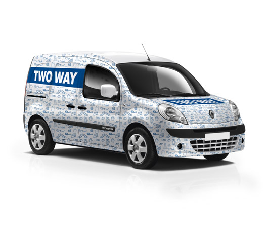 Twoway car sticker