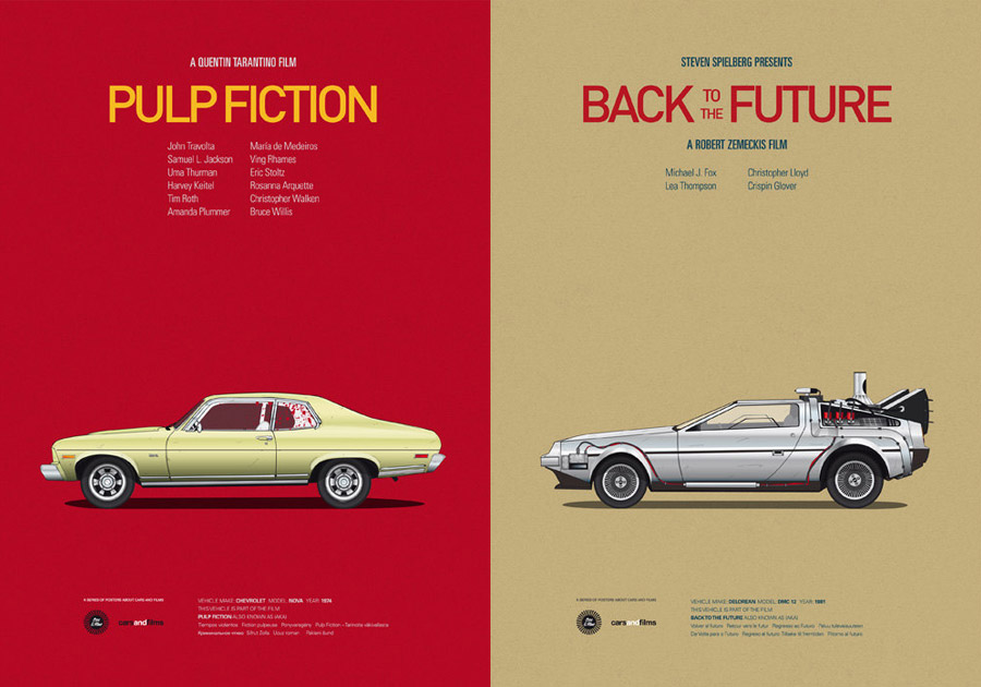 Cars And Films - Pulp Fiction / Back To The Future