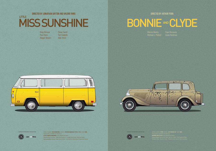 Cars And Films - Little Miss Sunshine / Bonnie and Clyde