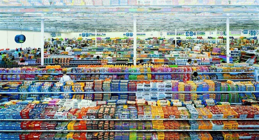 99 Cent II, Diptychon – Andreas Gursky (2001) $3.3 million
