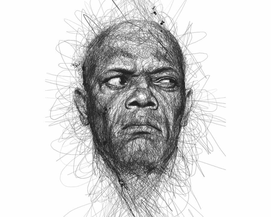Samuel L. Jackson by Vince Low