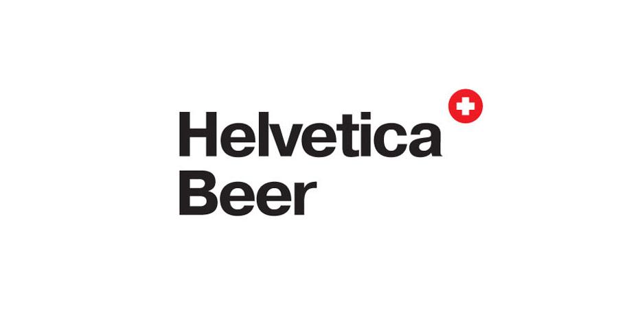 Helvetica Beer Logo
