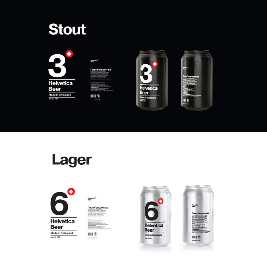 Helvetica Beer Package Design