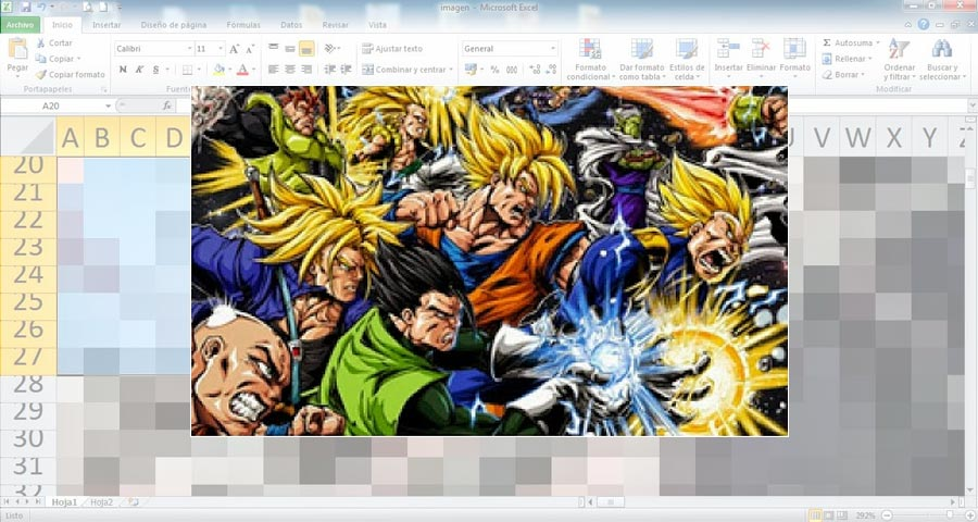 Drawing in Excel