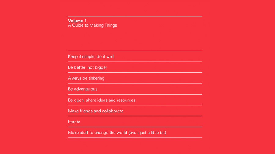 A Guide to Making Things
