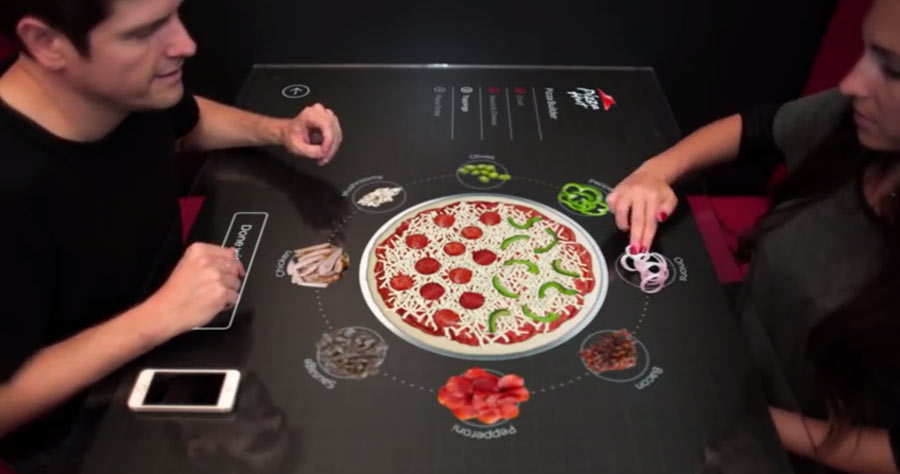 Pizza Hut - Interactive Concept Table
