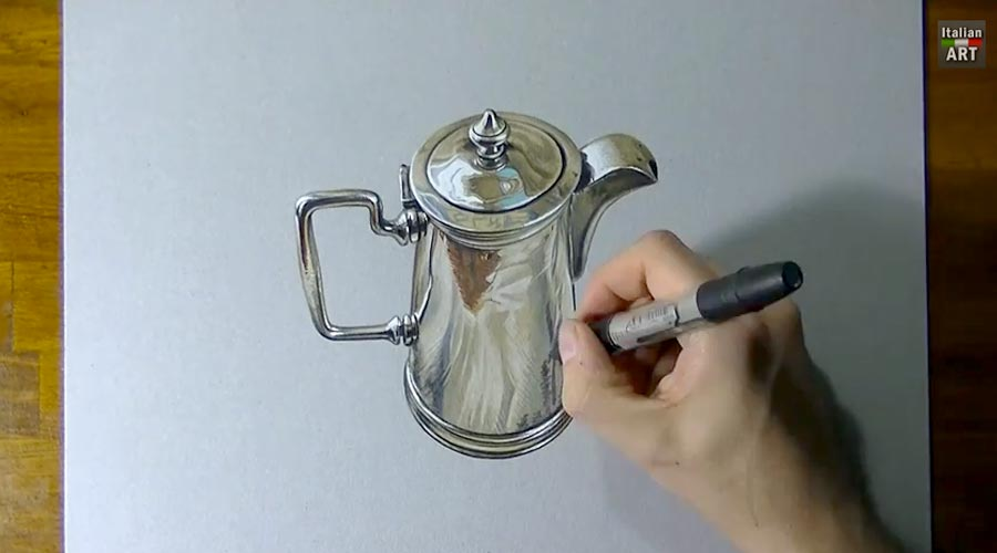 Marcello Barenghi drawing timelapse