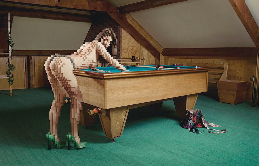 pixelized girls by Jean-Yves Lemoigne