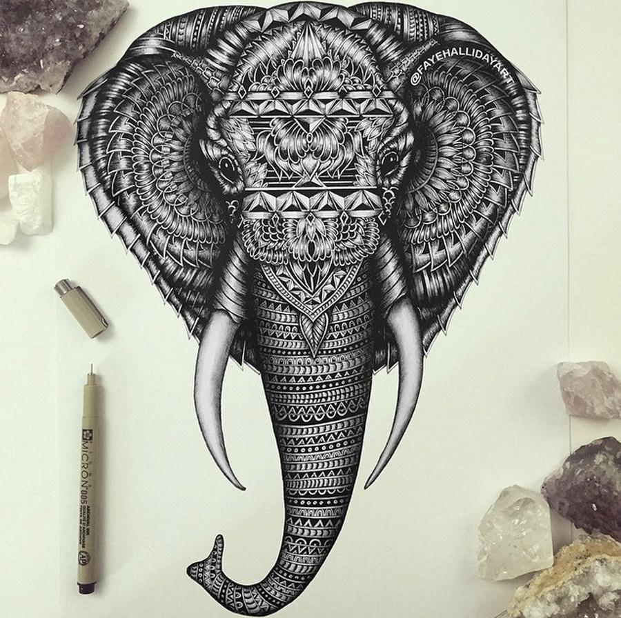 Elephant Haathi Doodle