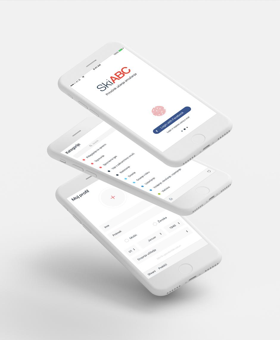 skiabc aplikacija gui