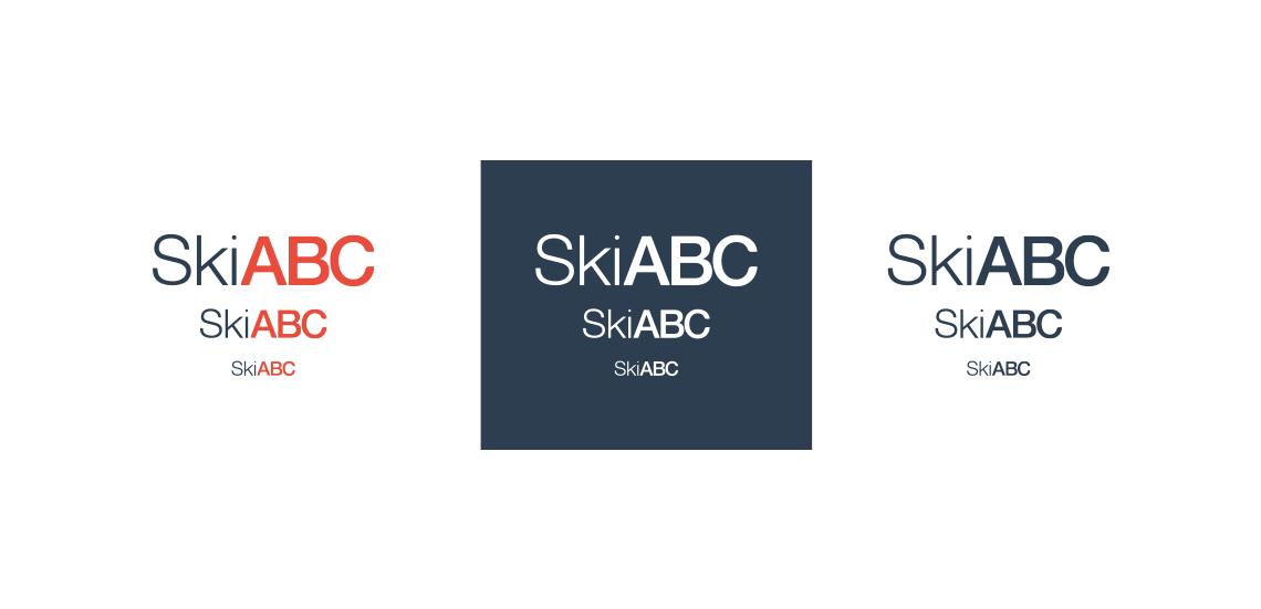 skiabc logo barvne variacije