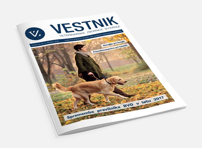Naslovnica revije - Veterinarski vestnik