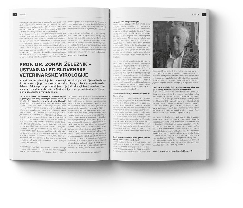 Notranjost revije - Veterinarski vestnik